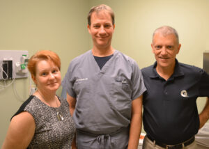 From left to right: Dr. Archer, Dr. McSwain, and Dr. Graney.