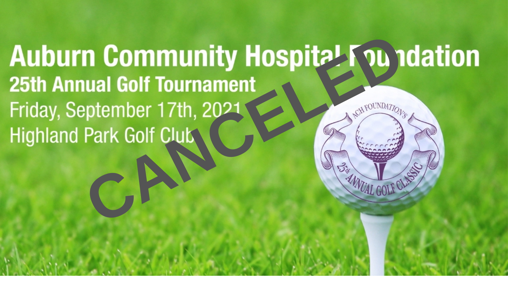 ACH Foundation's 25th Annual Golf Classic Canceled Due to COVID-19